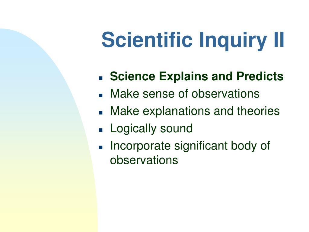 Scientific Inquiry II