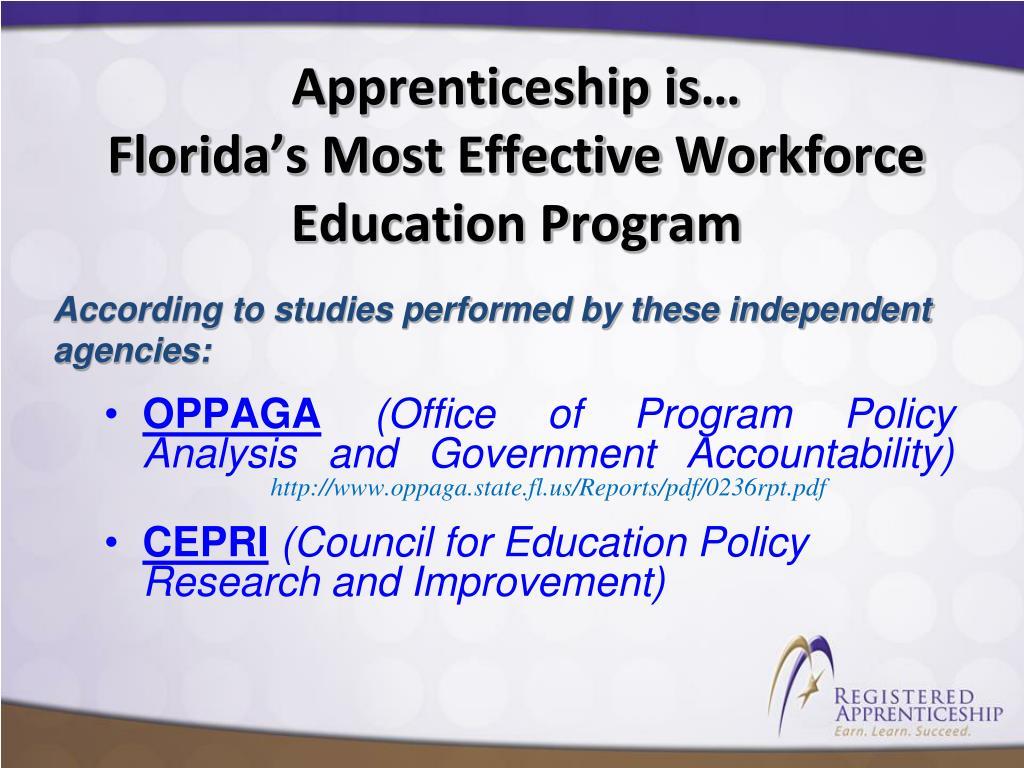 Apprenticeship is…