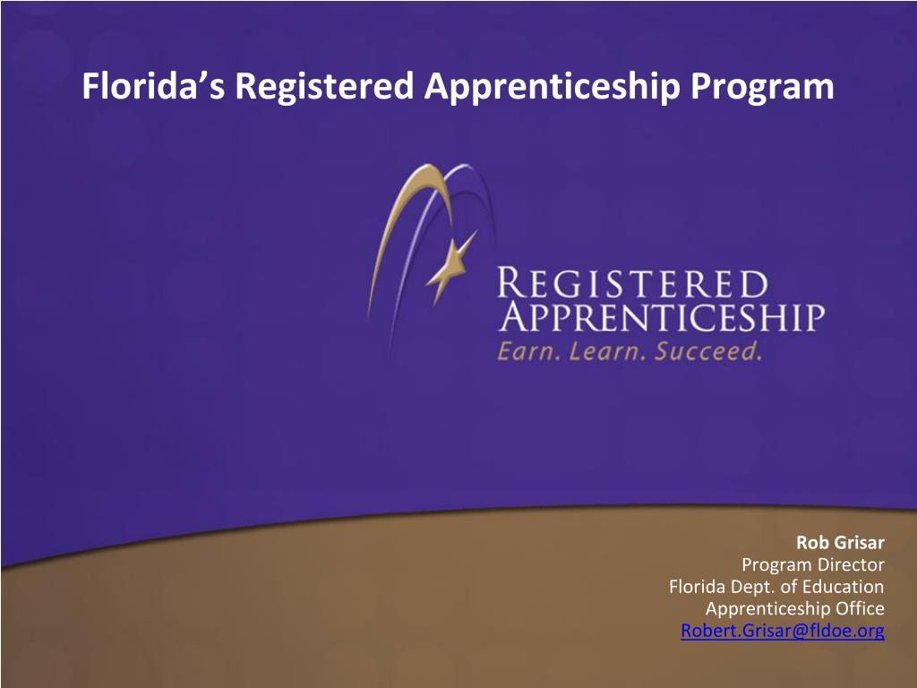 florida s registered apprenticeship program