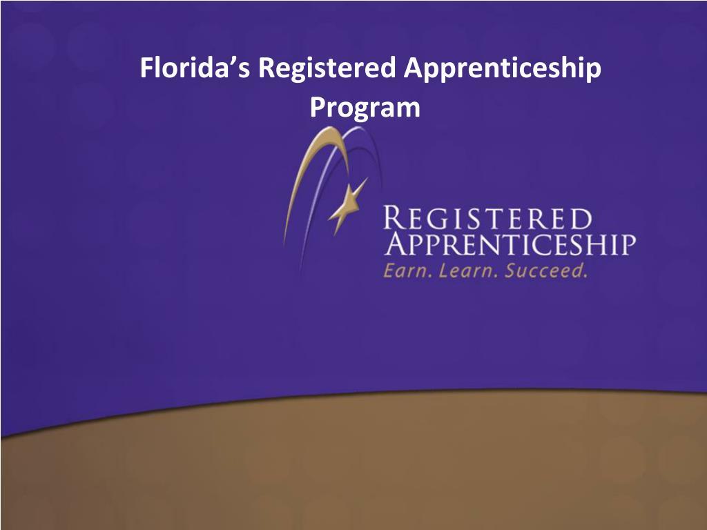 Florida's Registered Apprenticeship Program