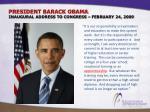 president barack obama inaugural address to congress february 24 2009