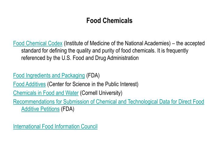 Food Chemicals