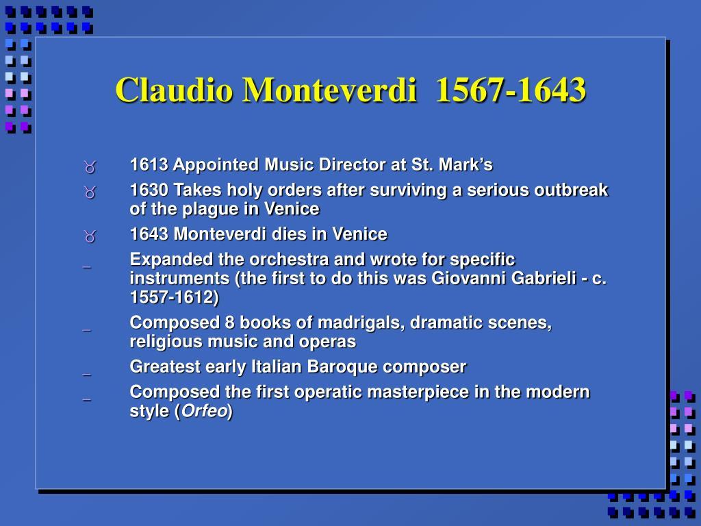 Claudio Monteverdi  1567-1643