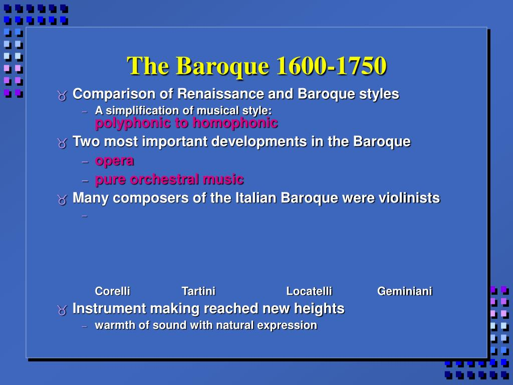 The Baroque 1600-1750