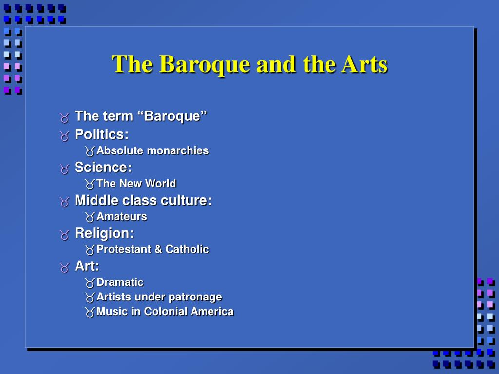The Baroque and the Arts