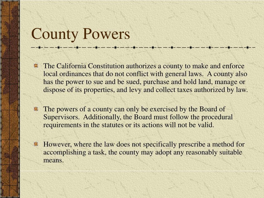 County Powers