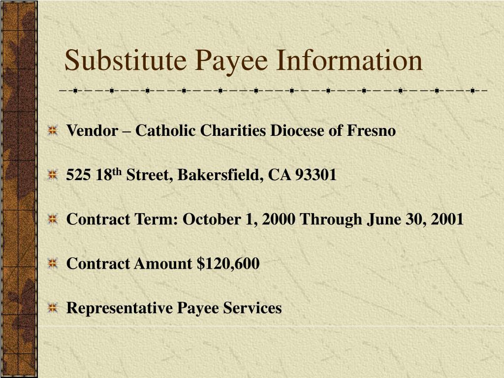 Vendor – Catholic Charities Diocese of Fresno