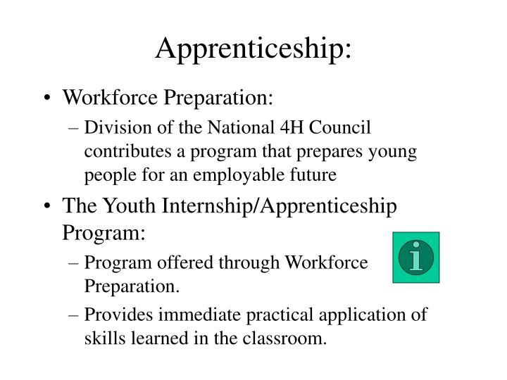 Apprenticeship: