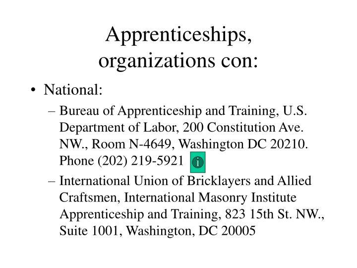 Apprenticeships,
