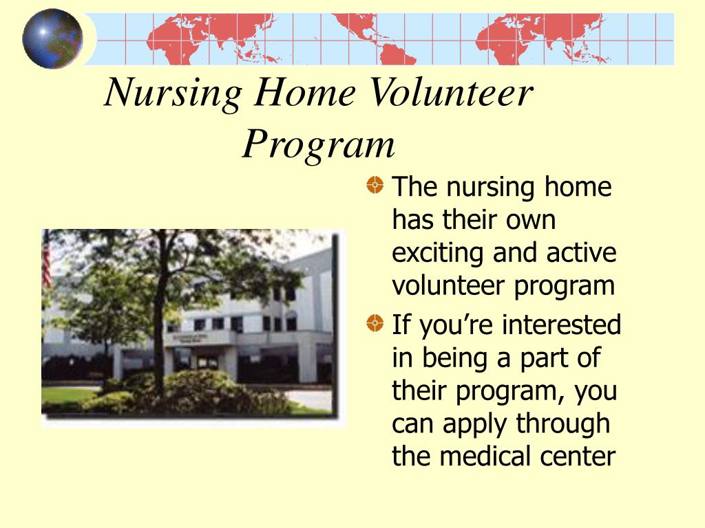 Nursing Home Volunteer Program