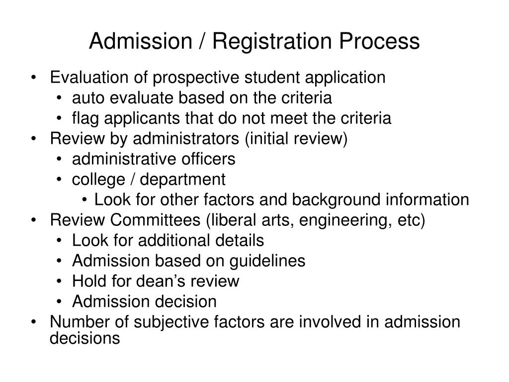 Admission / Registration Process