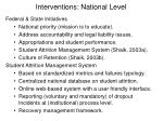 interventions national level