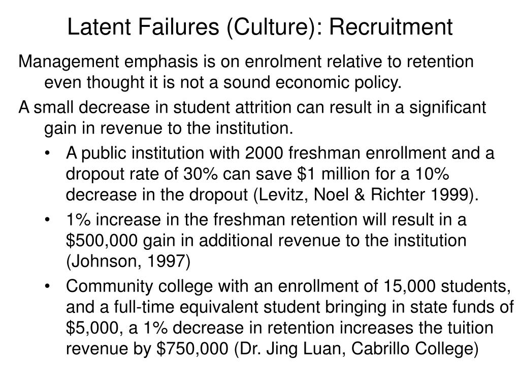 Latent Failures (Culture): Recruitment