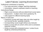 latent failures learning environment