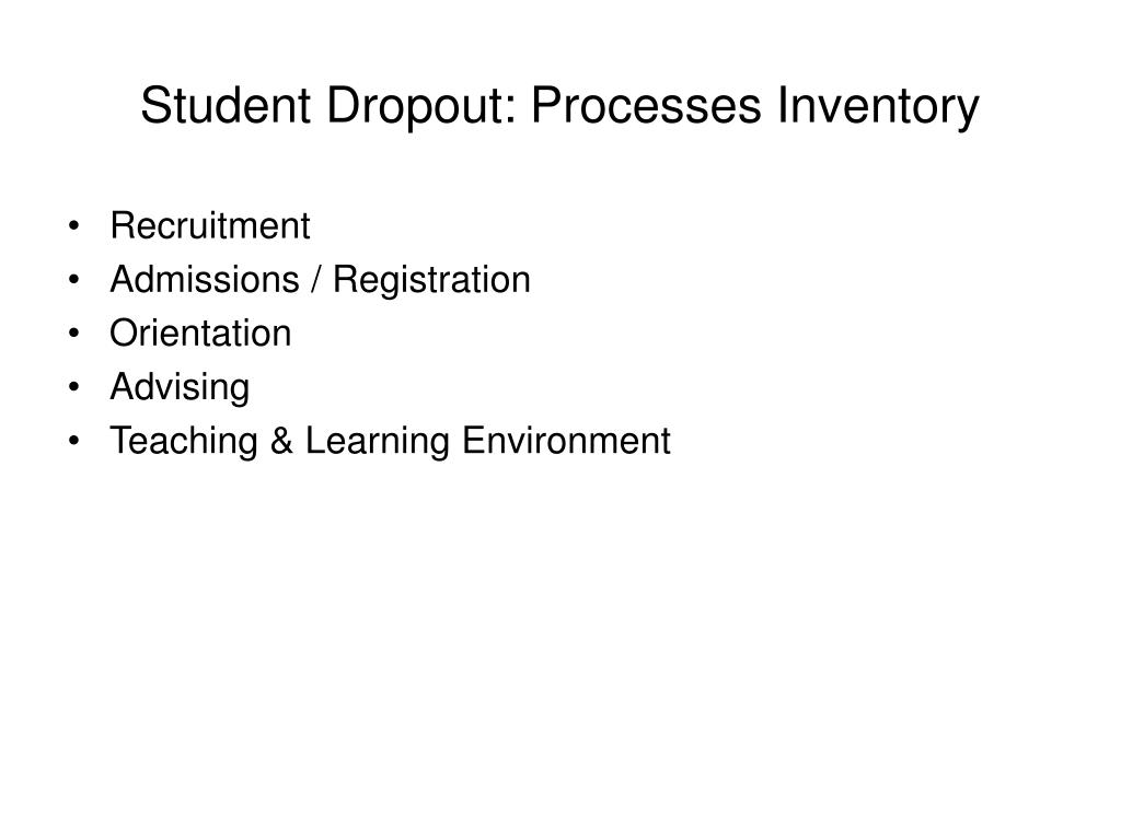 Student Dropout: Processes Inventory