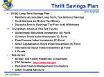 thrift savings plan