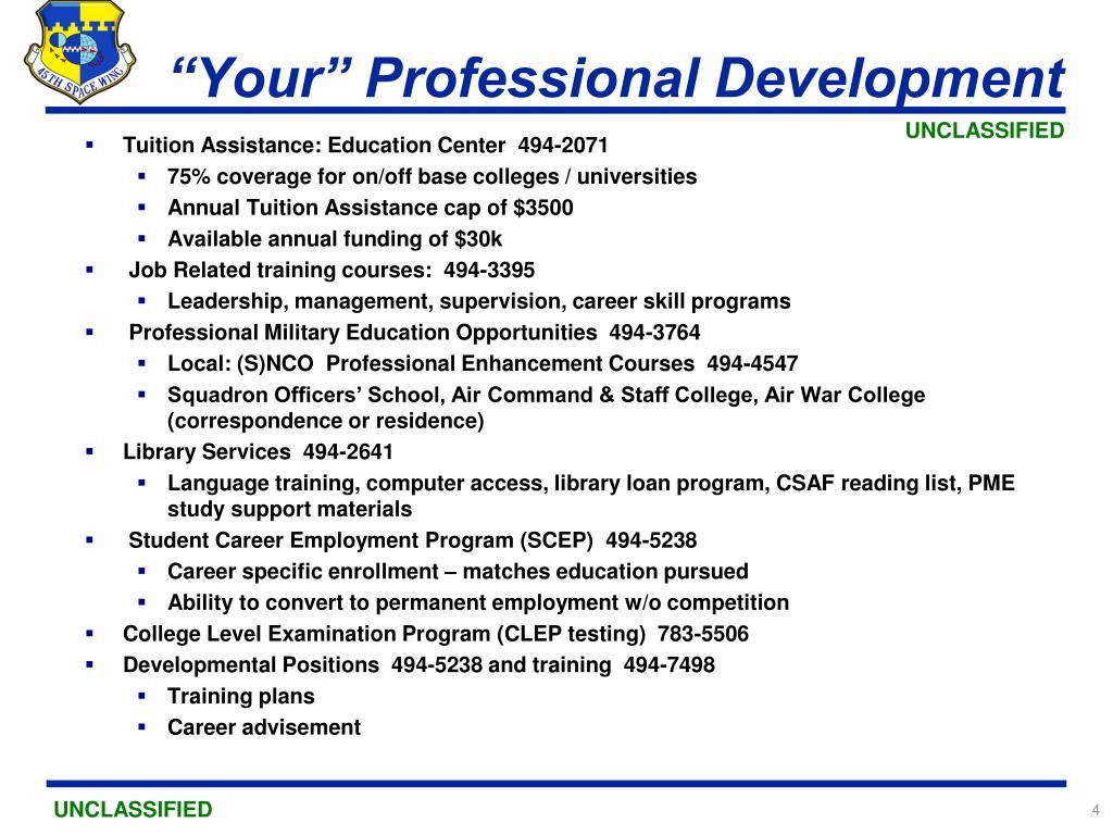 """Your"" Professional Development"