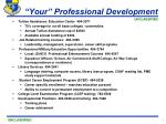 your professional development
