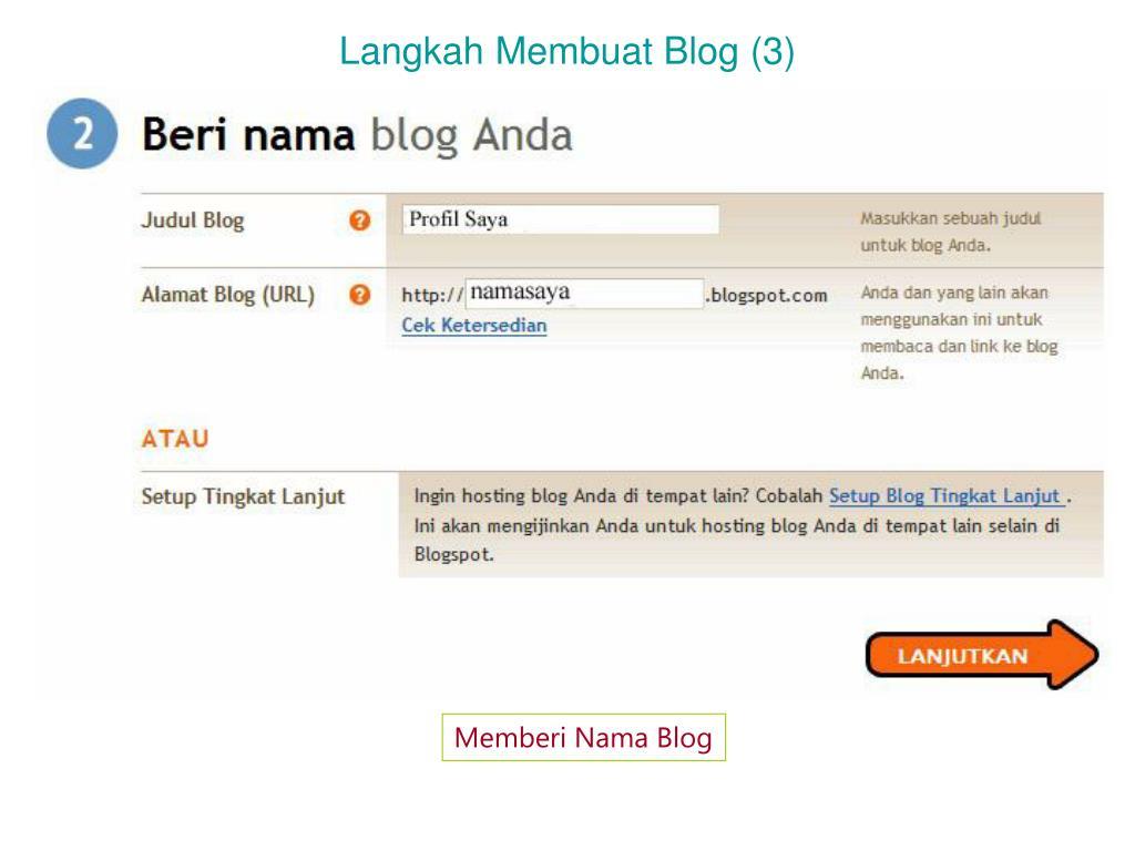 Langkah Membuat Blog (3)