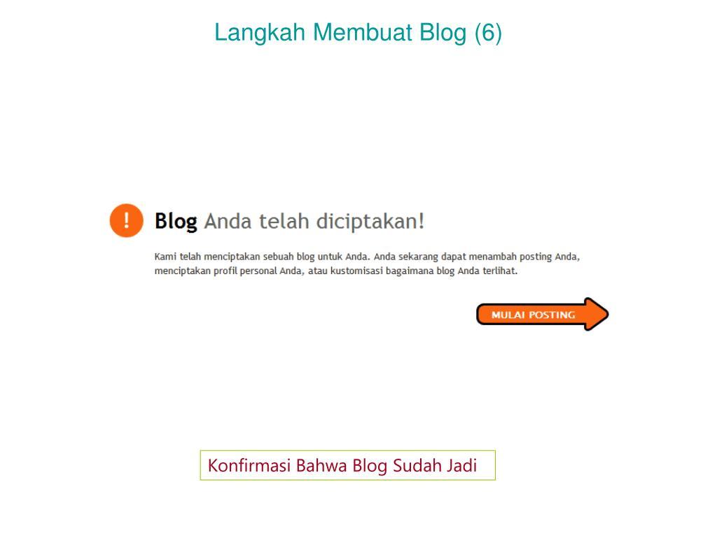 Langkah Membuat Blog (6)