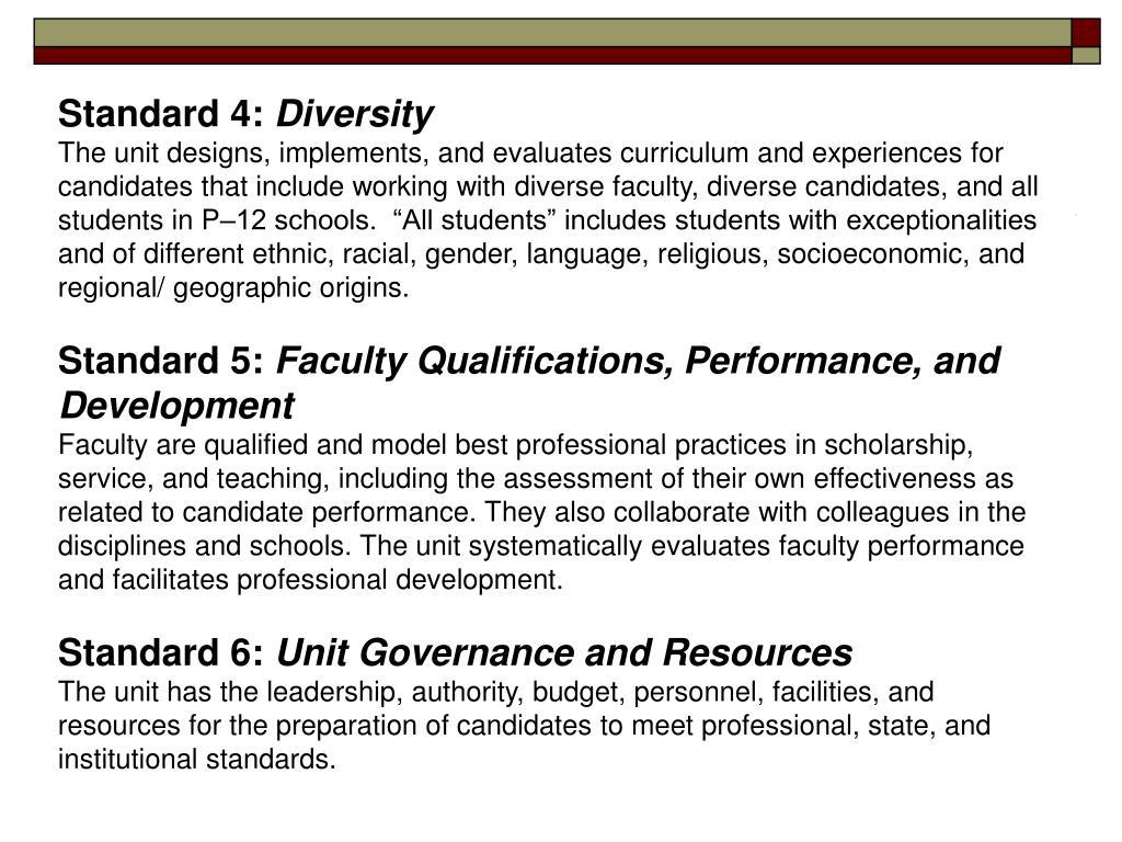 Standard 4: