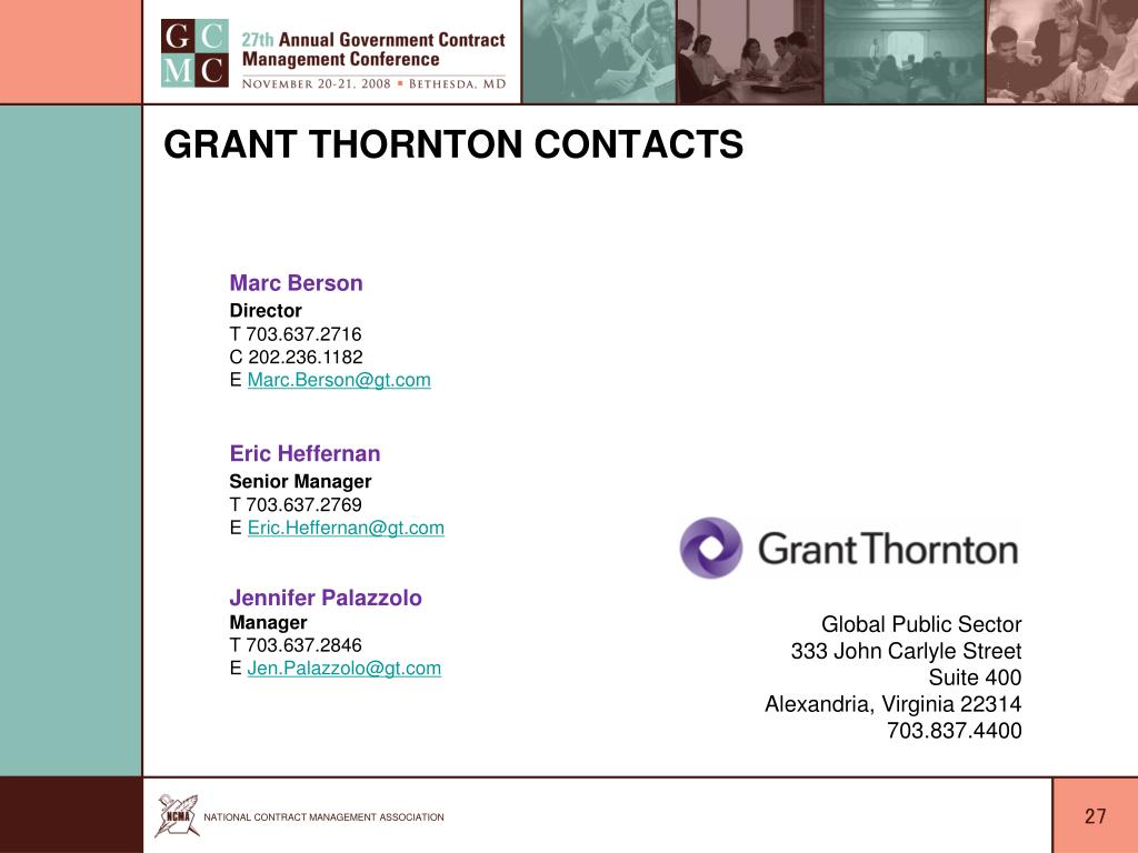 Grant Thornton Contacts