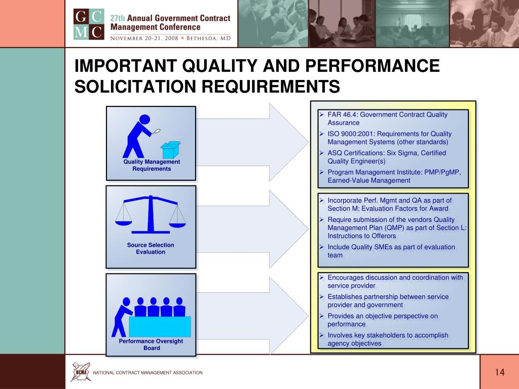Important Quality and Performance Solicitation Requirements
