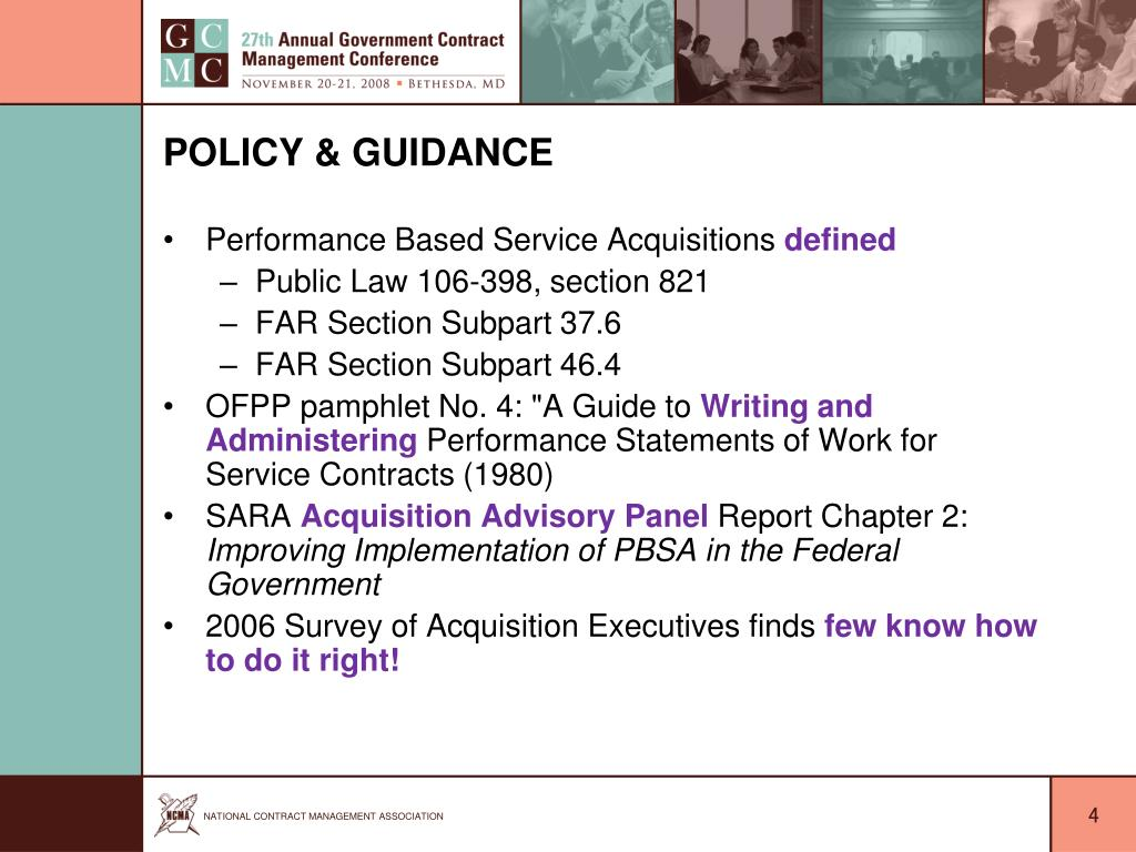 Policy & Guidance