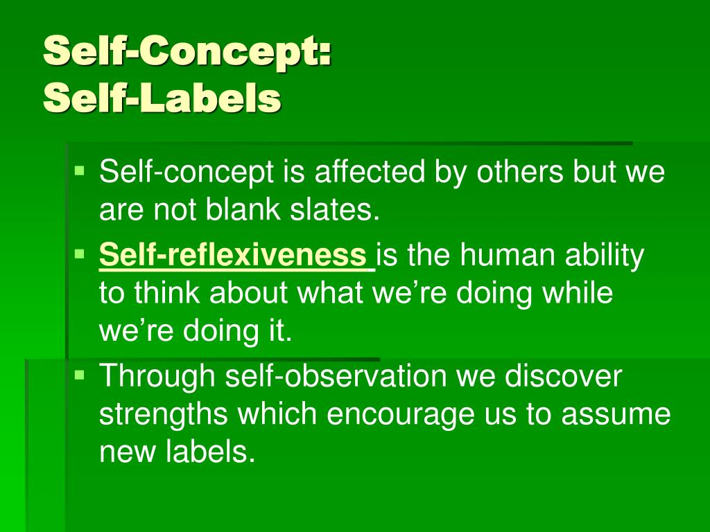 Self-Concept: