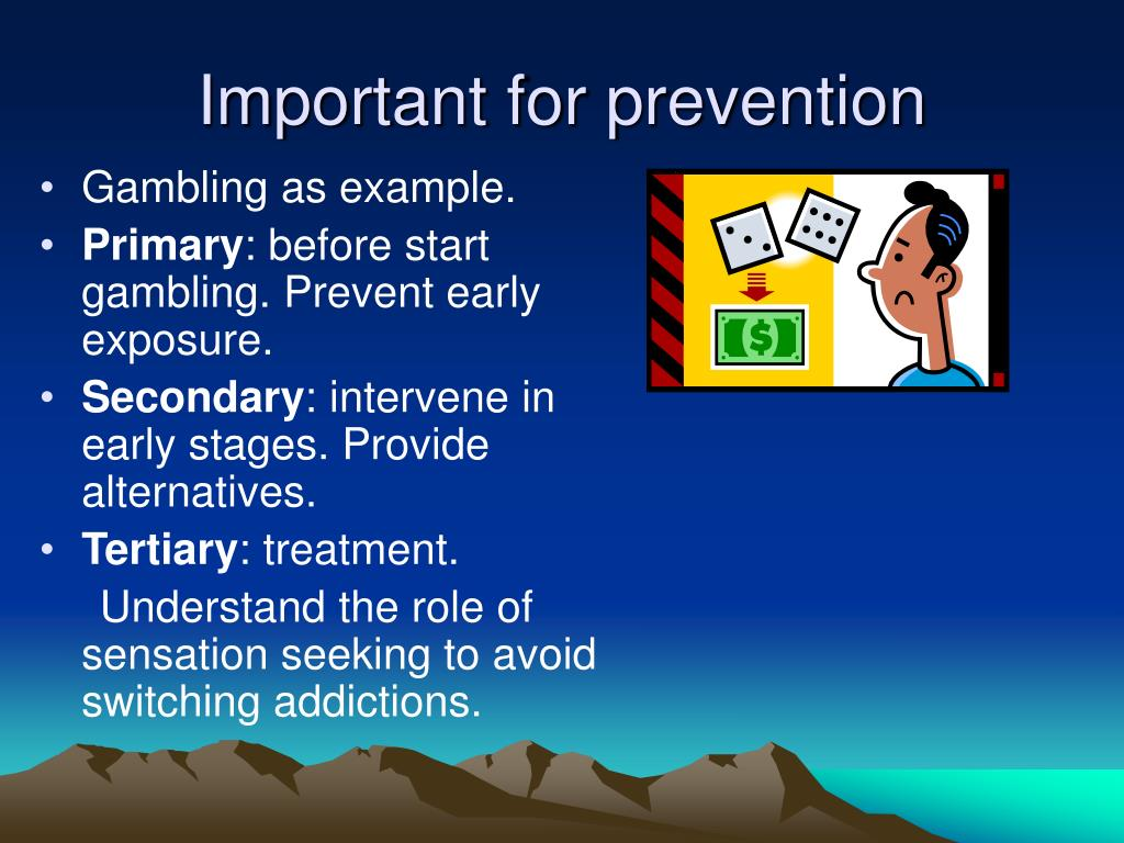 Important for prevention