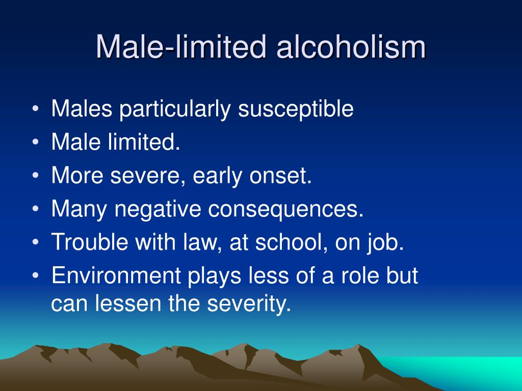 Male-limited alcoholism