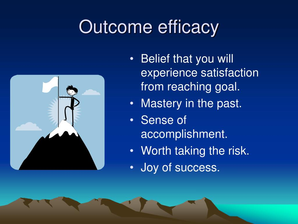 Outcome efficacy