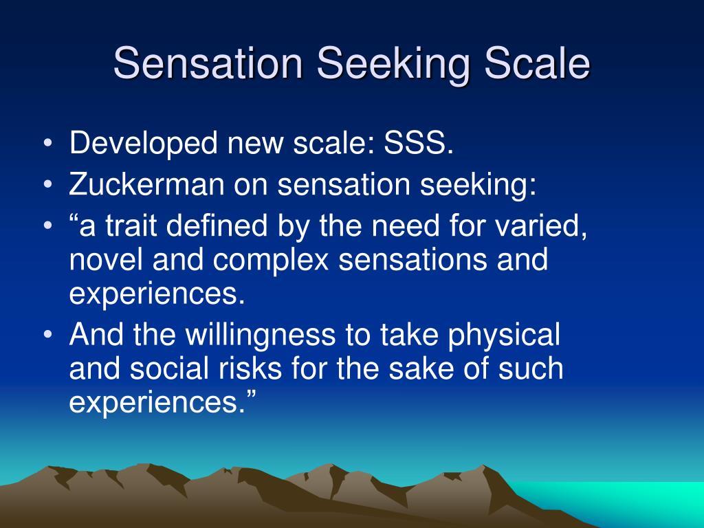 Sensation Seeking Scale