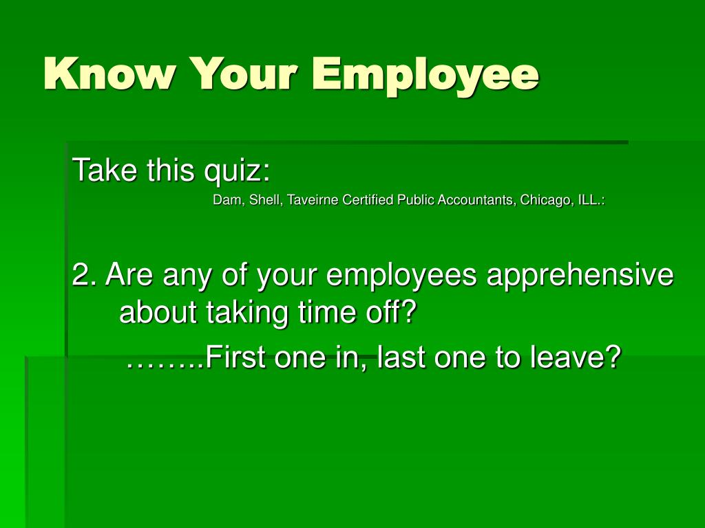 Know Your Employee