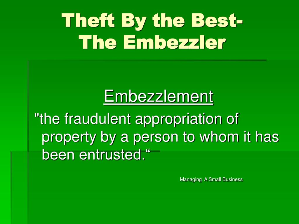 Theft By the Best-