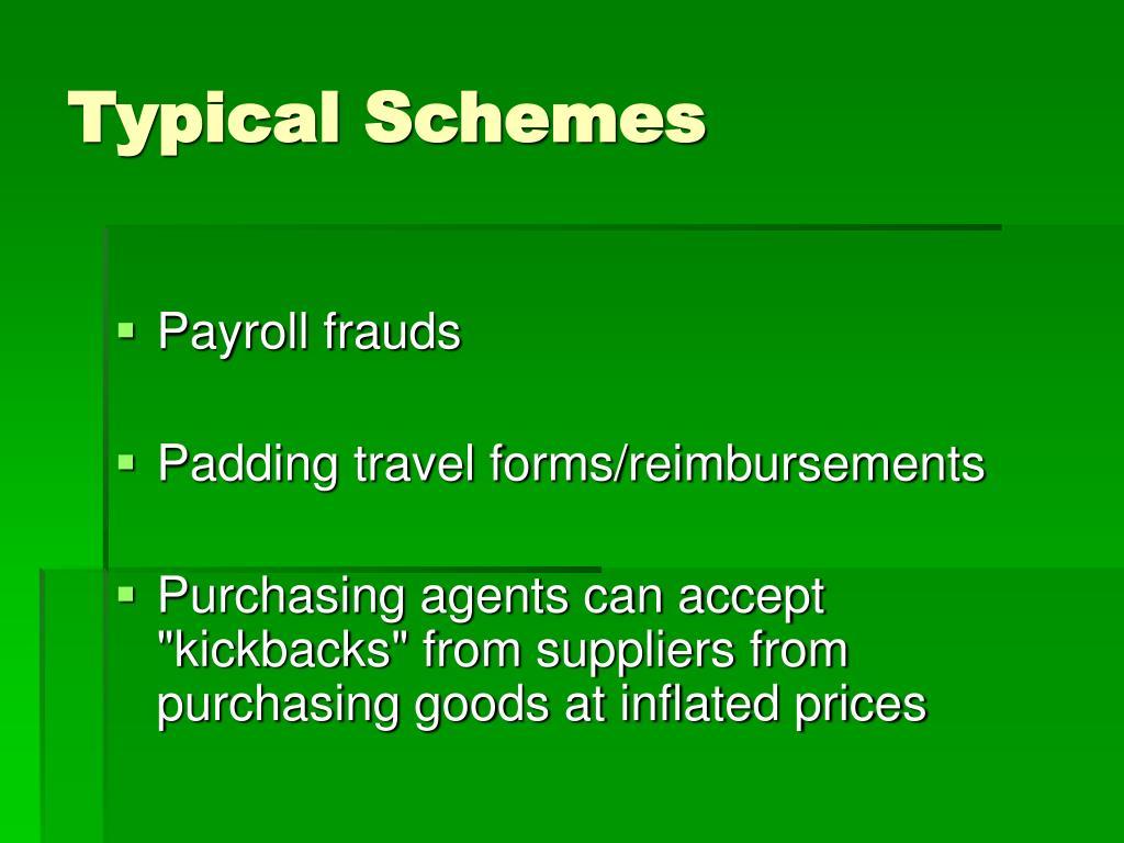 Typical Schemes