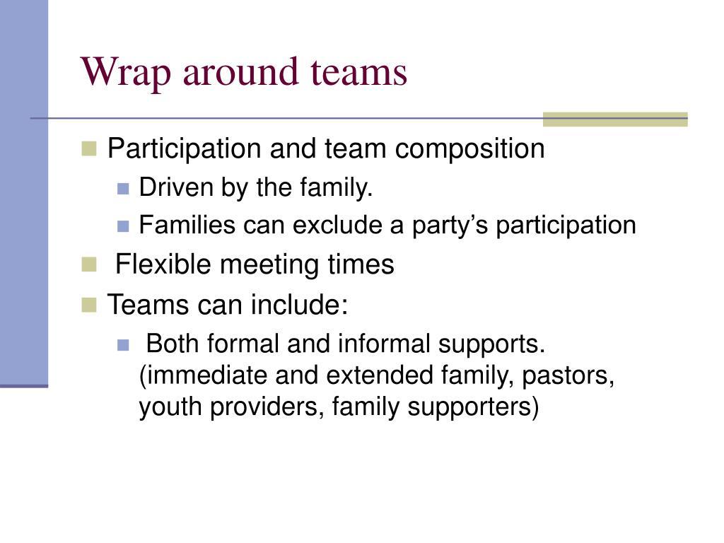 Wrap around teams