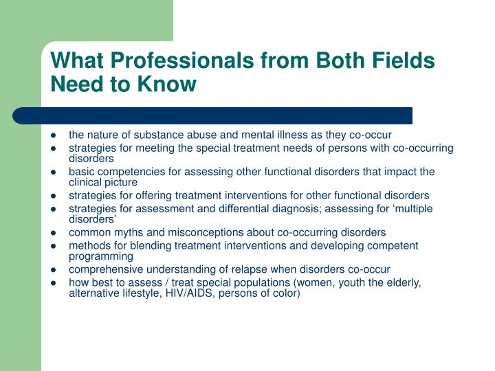What Professionals from Both Fields Need to Know