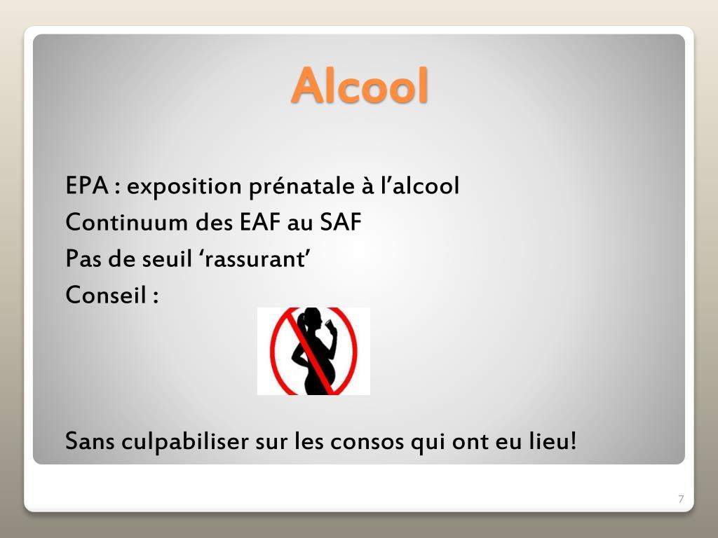 EPA : exposition prénatale à l'alcool