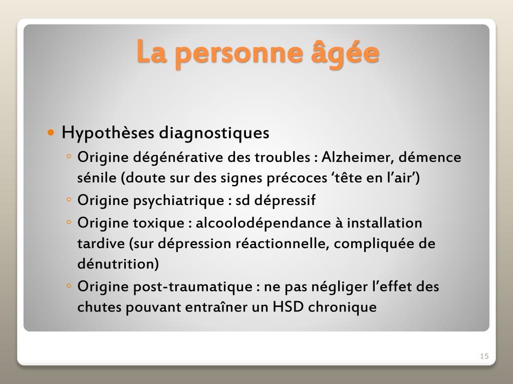 Hypothèses diagnostiques