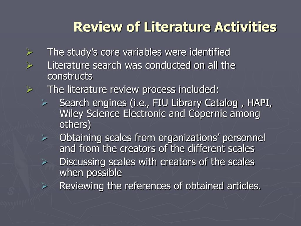 The study's core variables were identified