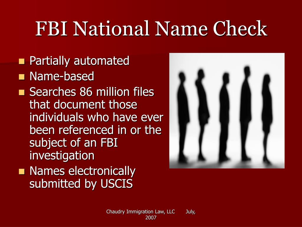FBI National Name Check