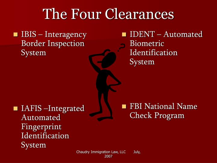 The four clearances