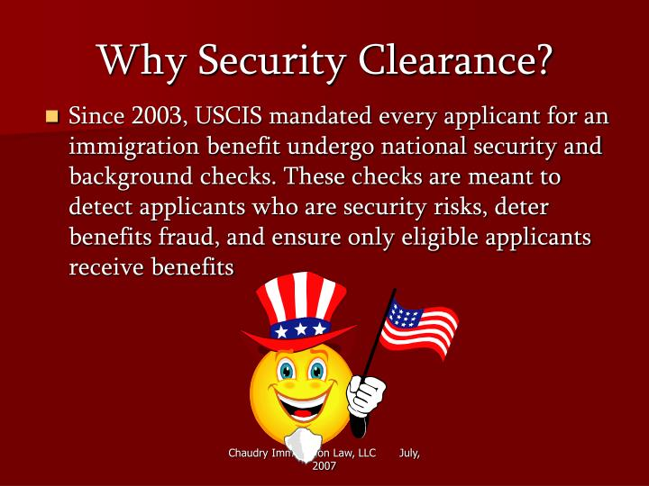 Why security clearance