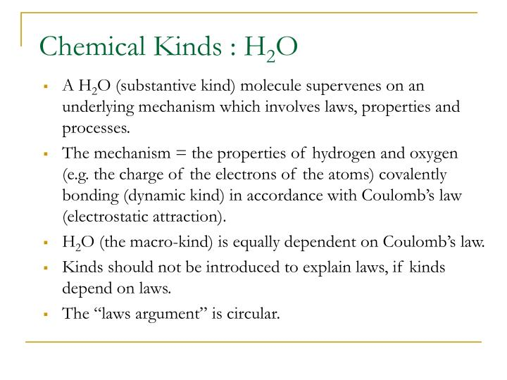 Chemical Kinds : H