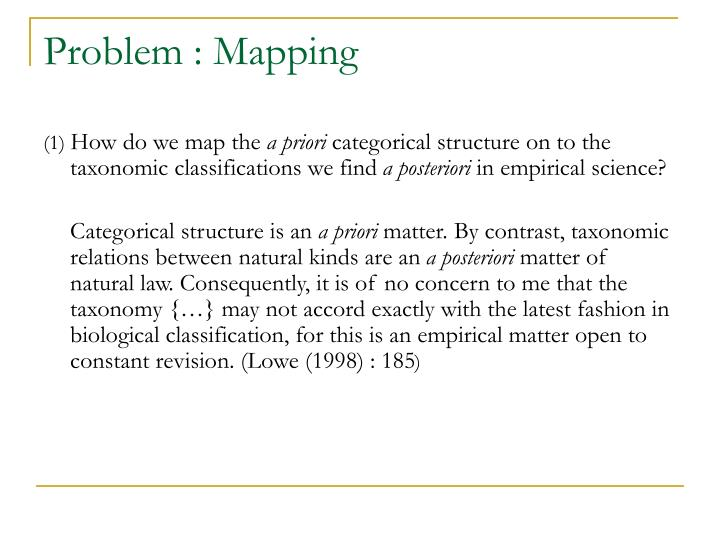 Problem : Mapping
