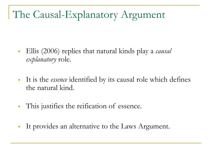 The Causal-Explanatory Argument