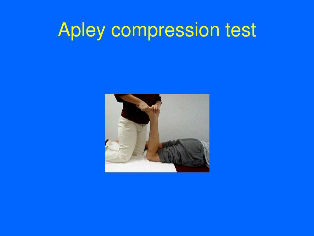 Apley compression test