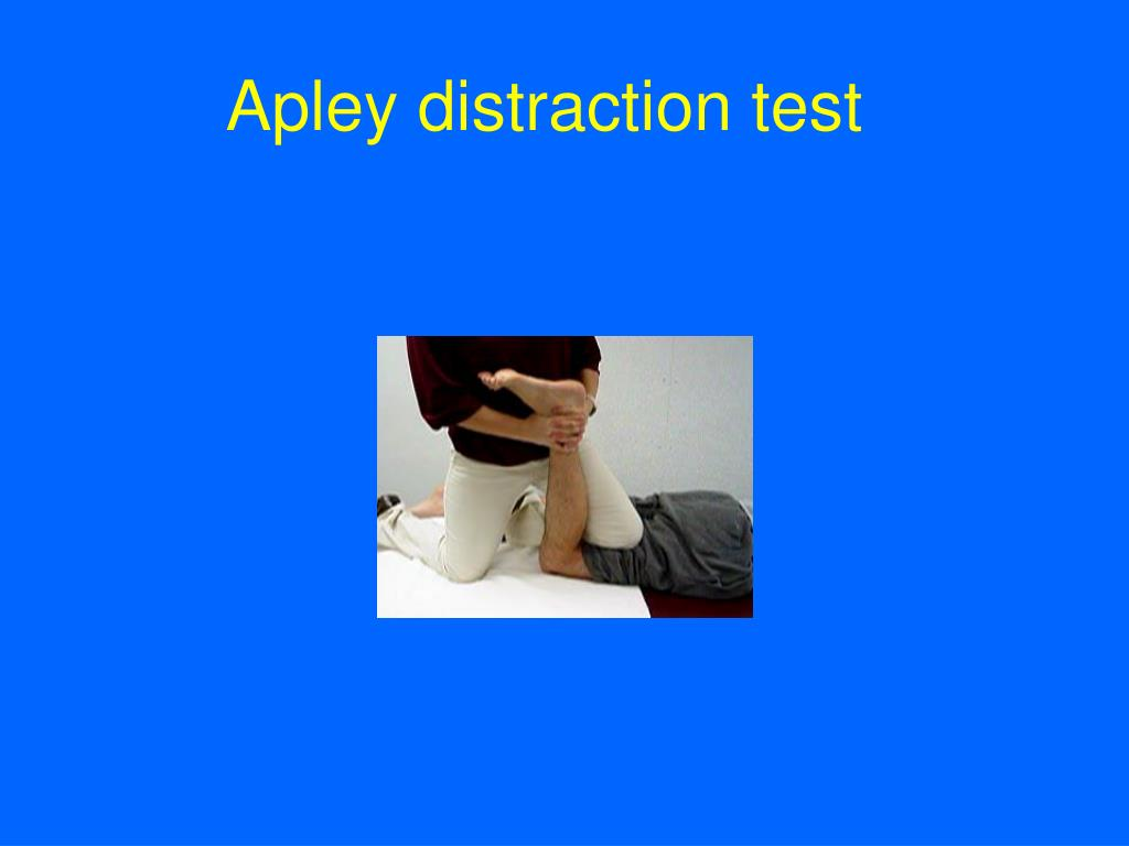 Apley distraction test