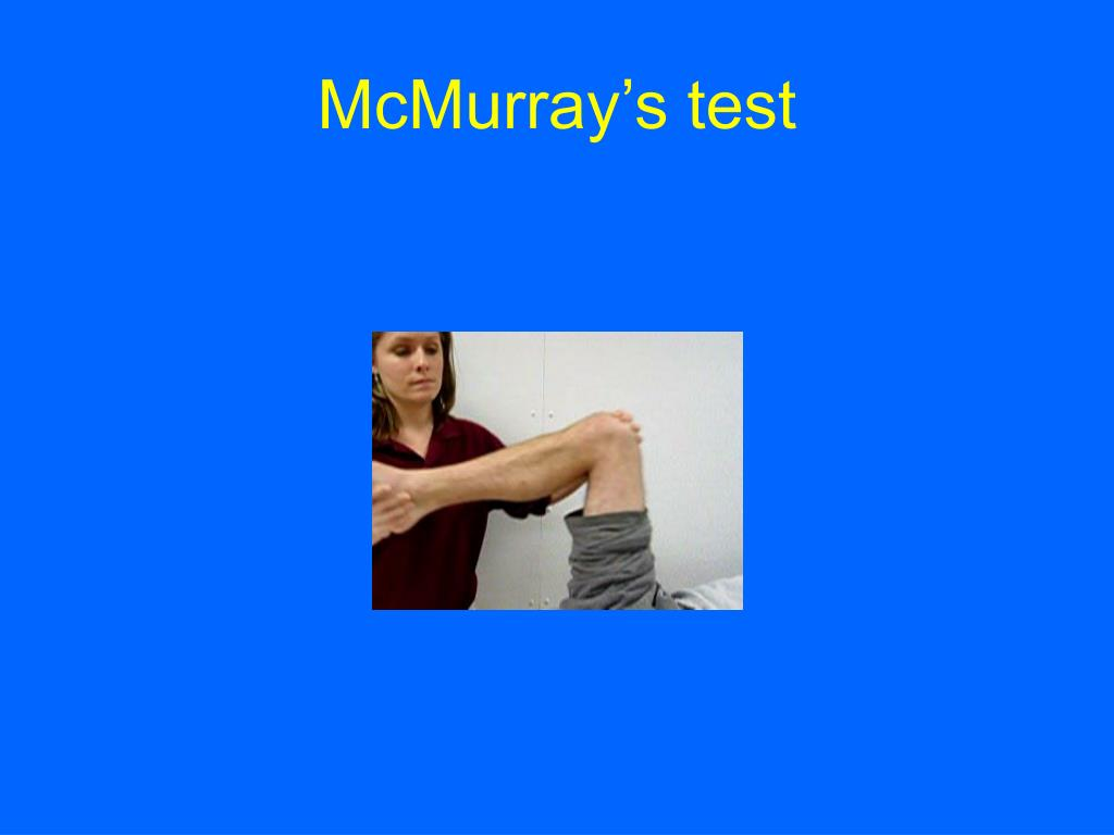 McMurray's test